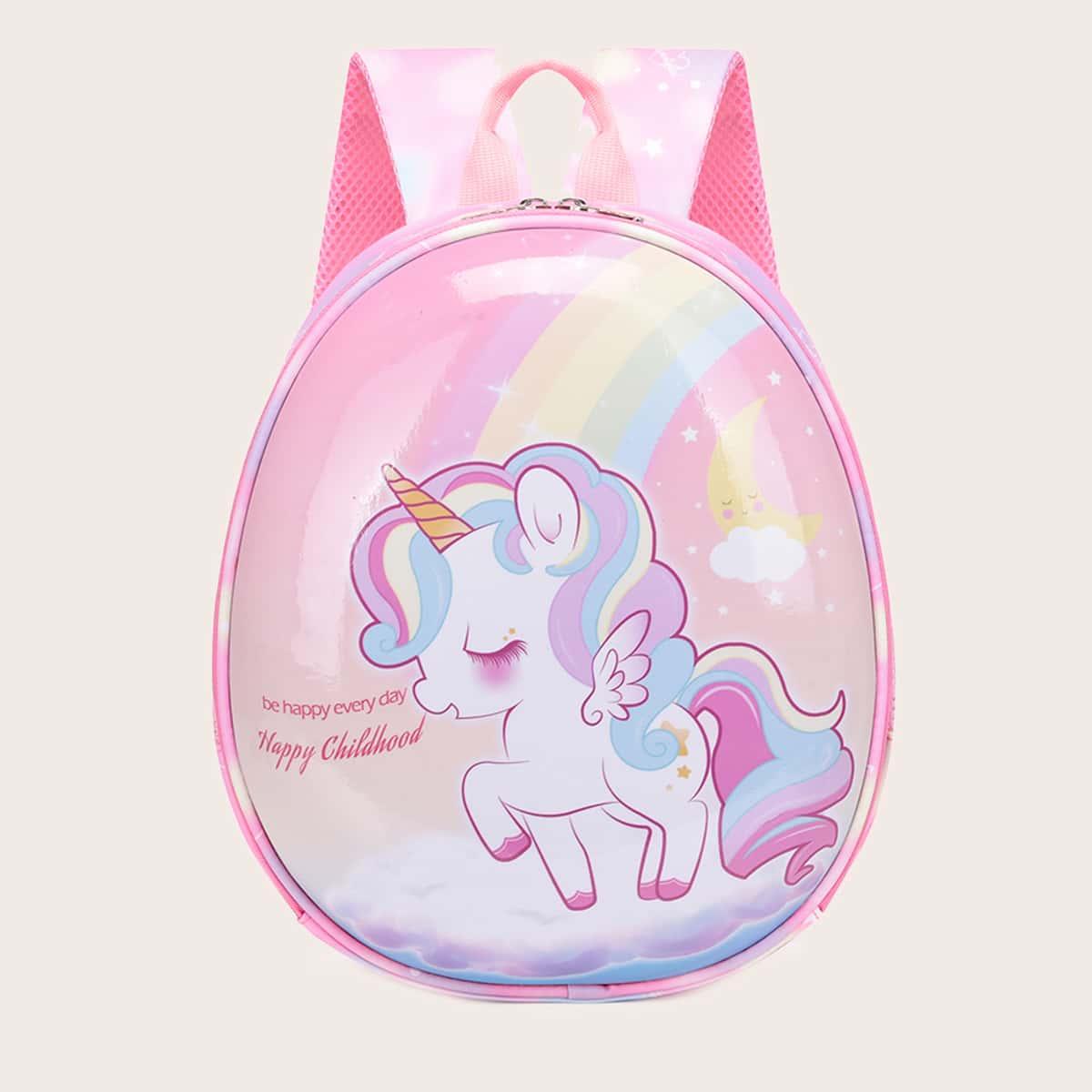 Рюкзак с рисунком единорога для девочек SheIn sk2108079935733031