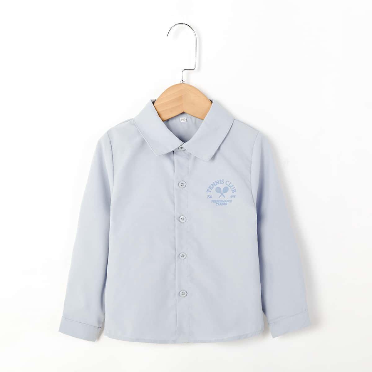 для мальчиков Рубашка Теннис и с текстовым принтом
