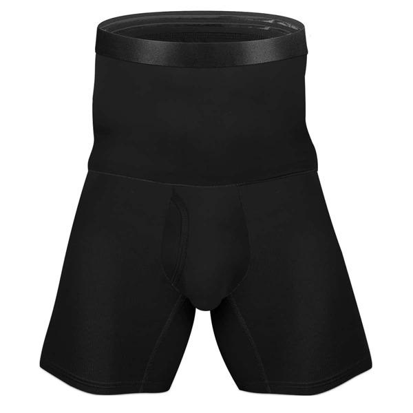 Men High Waist Boxer Brief, Black