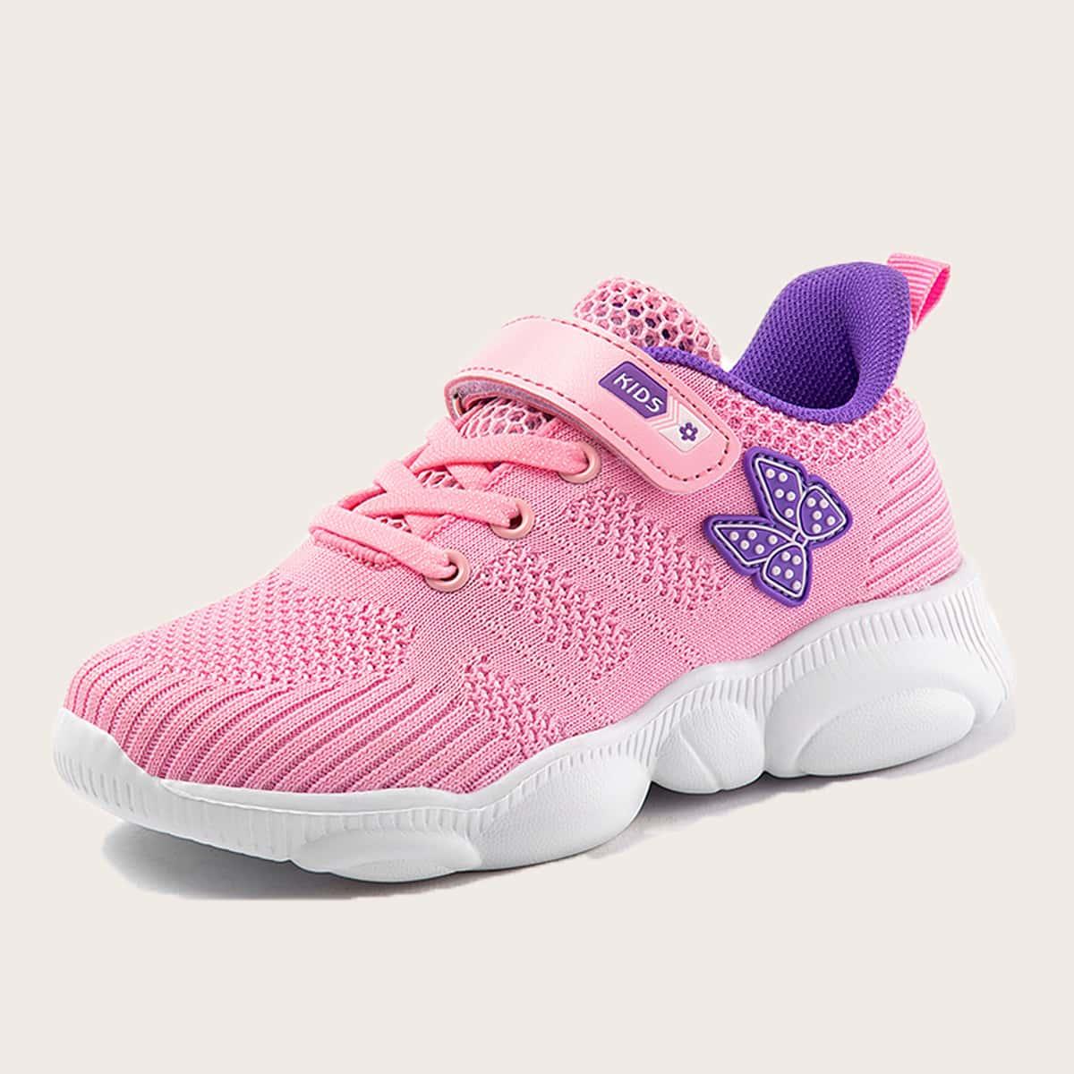 Дышащие кроссовки для девочек с аппликациями от SHEIN