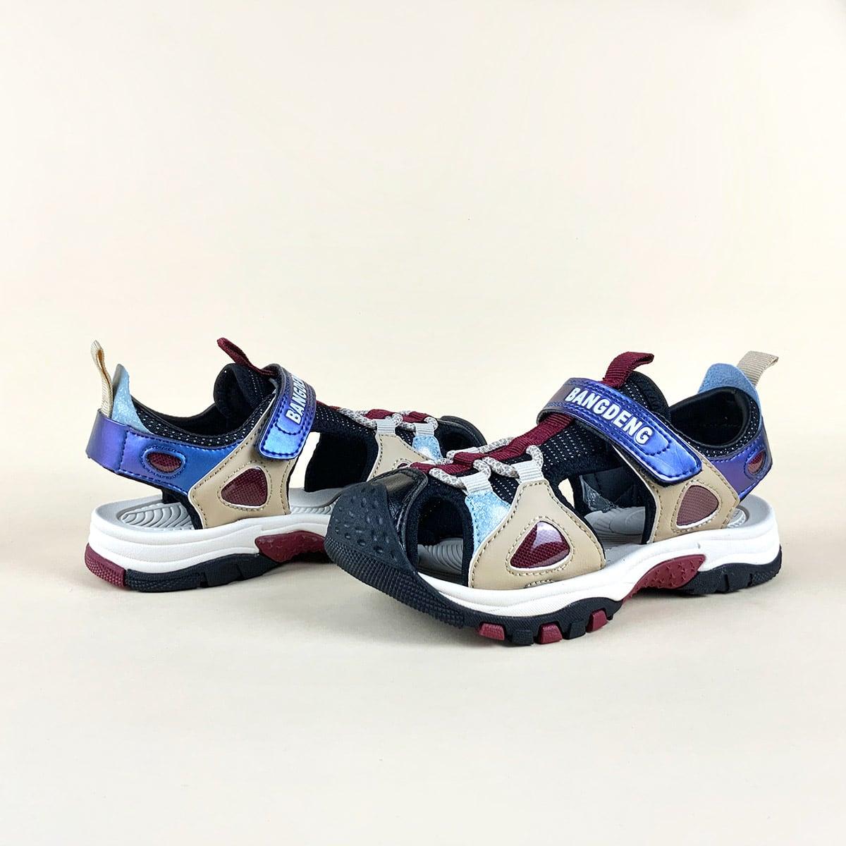 для мальчиков Спортивные сандалии с разрезом с текстовым принтом SheIn sk2108097686831917