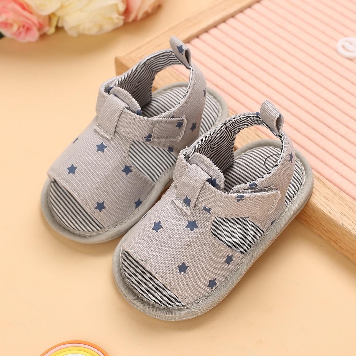 Детские сандалии на плоской подошве с узором звезды SheIn sk2108098360163119