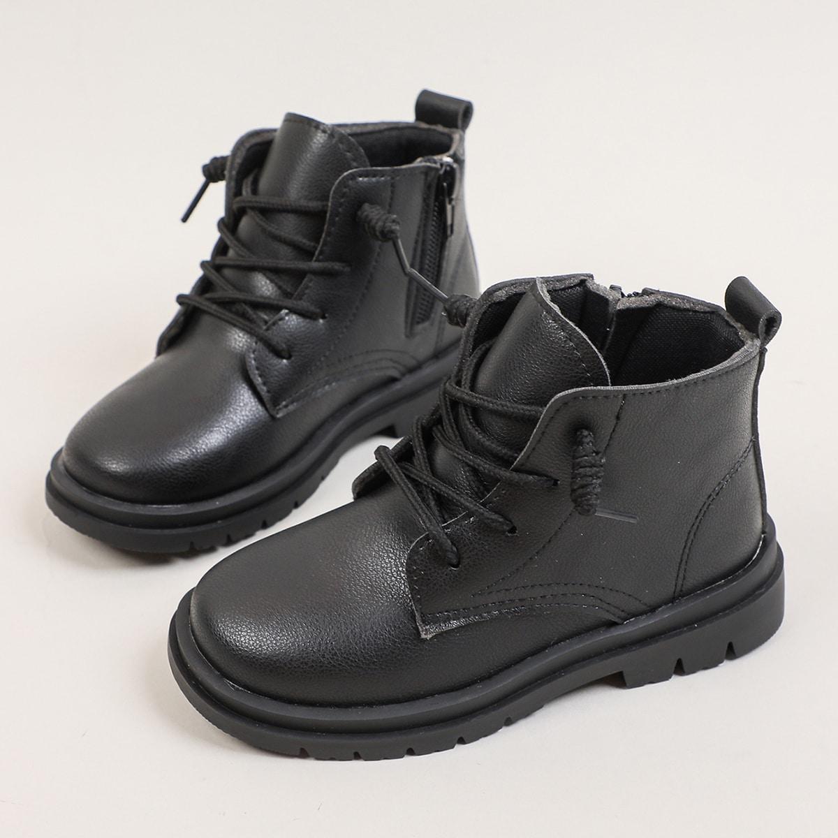 для девочек Ботинки комбат с молнией SheIn sk2108094301685043
