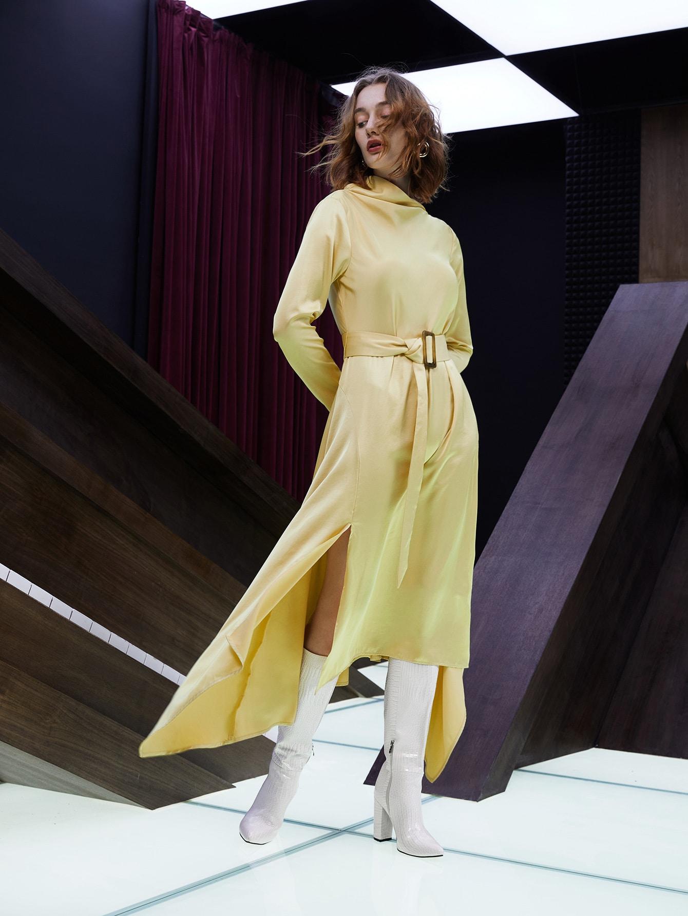 SHEIN Платье асимметричный с разрезом без поясаswdress07210601353