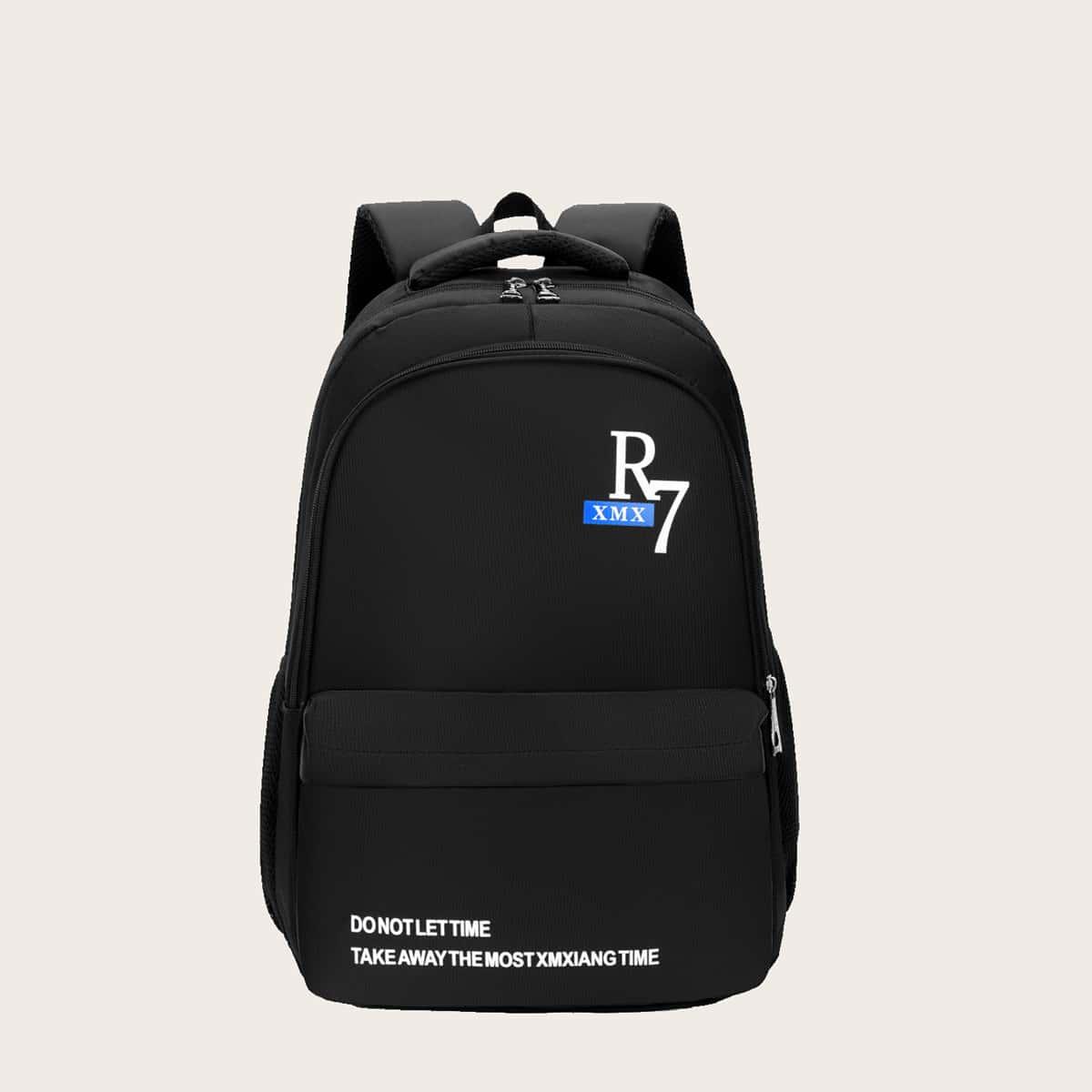 Классический рюкзак с текстовым принтом для мальчиков SheIn sk2108098183288362