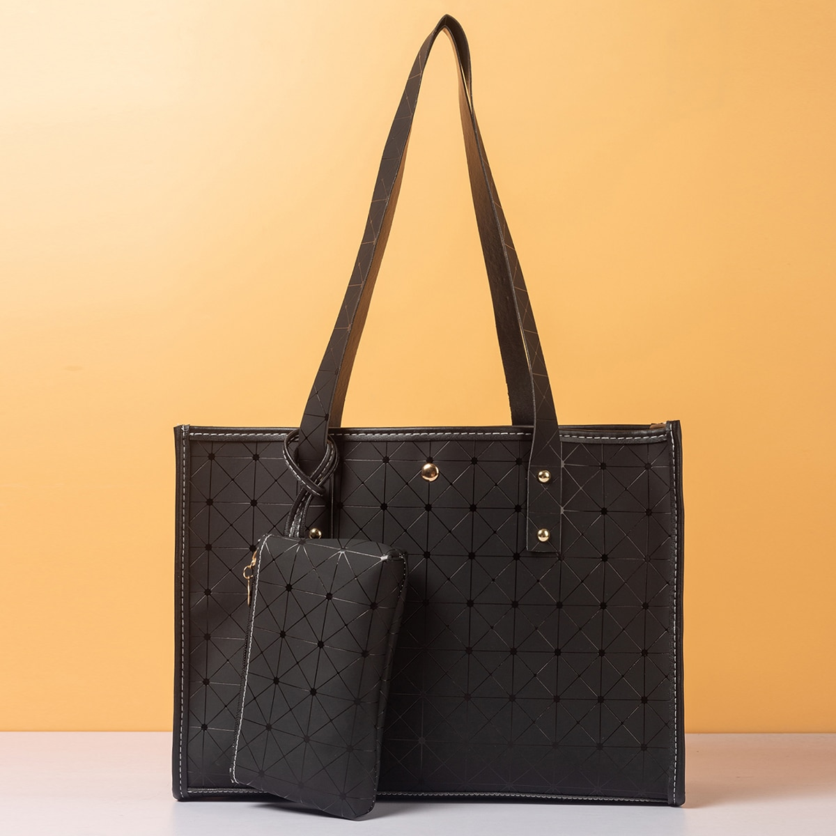 Geometric Pattern Tote Bag With Coin Case, SHEIN  - buy with discount