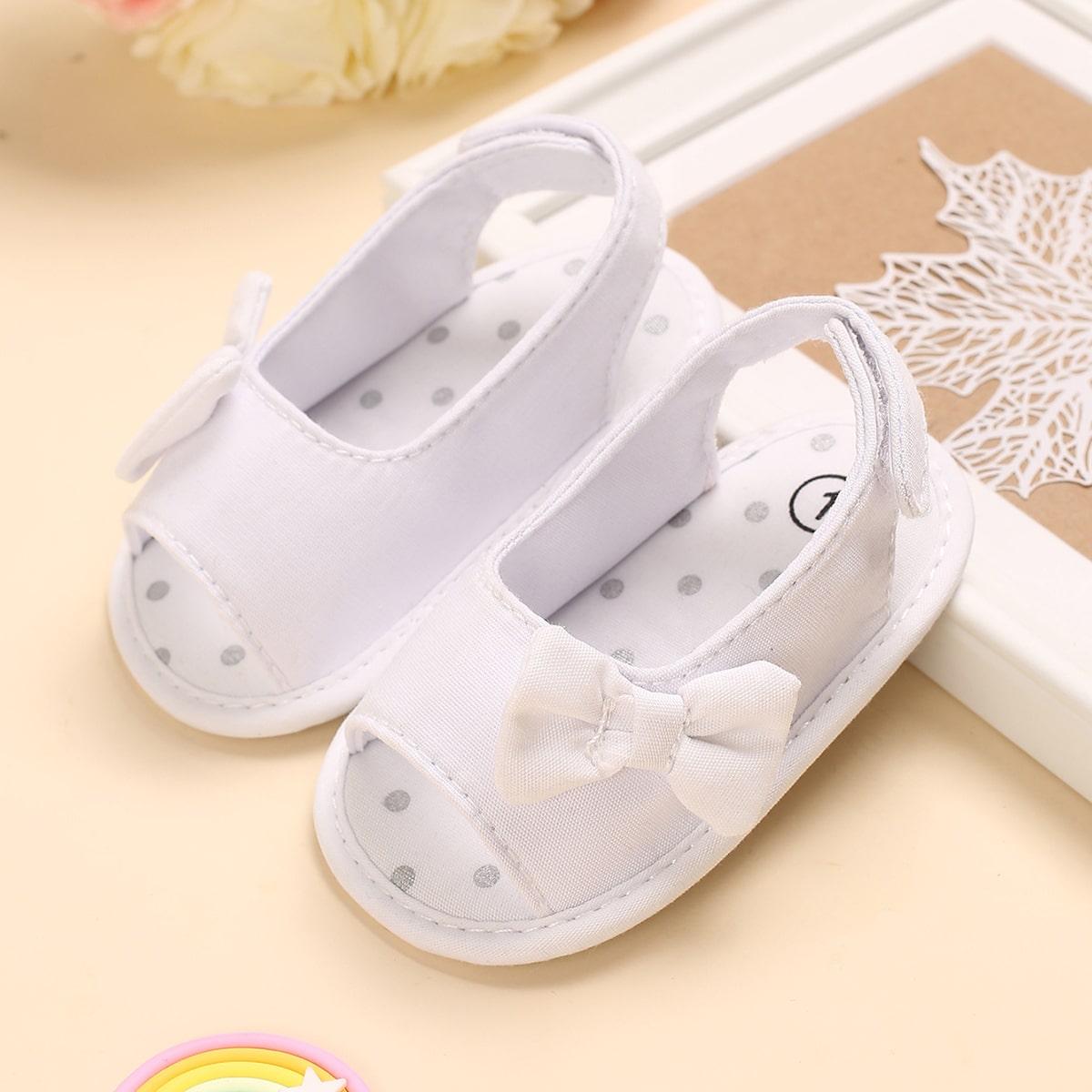 Детские минималистичные сандалии с бантом SheIn sk2108106806311313