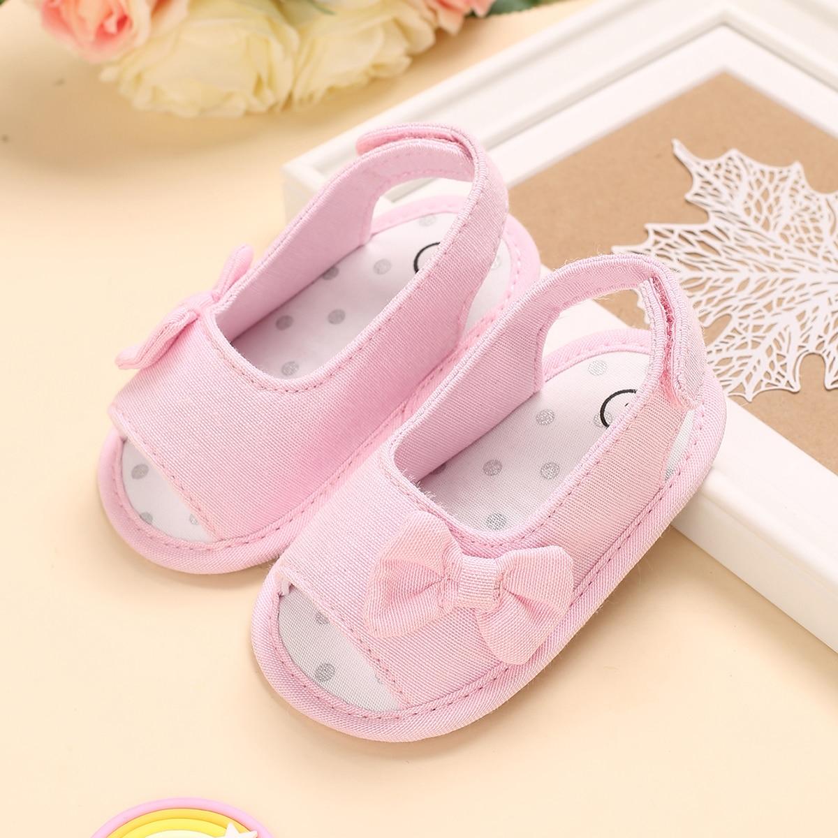 Детские минималистичные сандалии с бантом SheIn sk2108103747280301