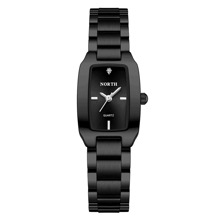 Rhinestone Decor Rectangle Pointer Quartz Watch