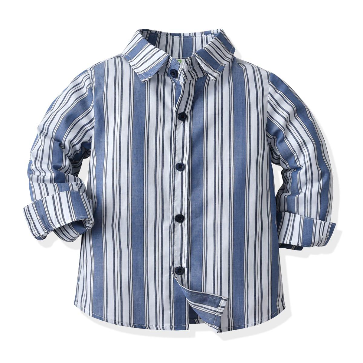 Рубашка в полоску для мальчиков