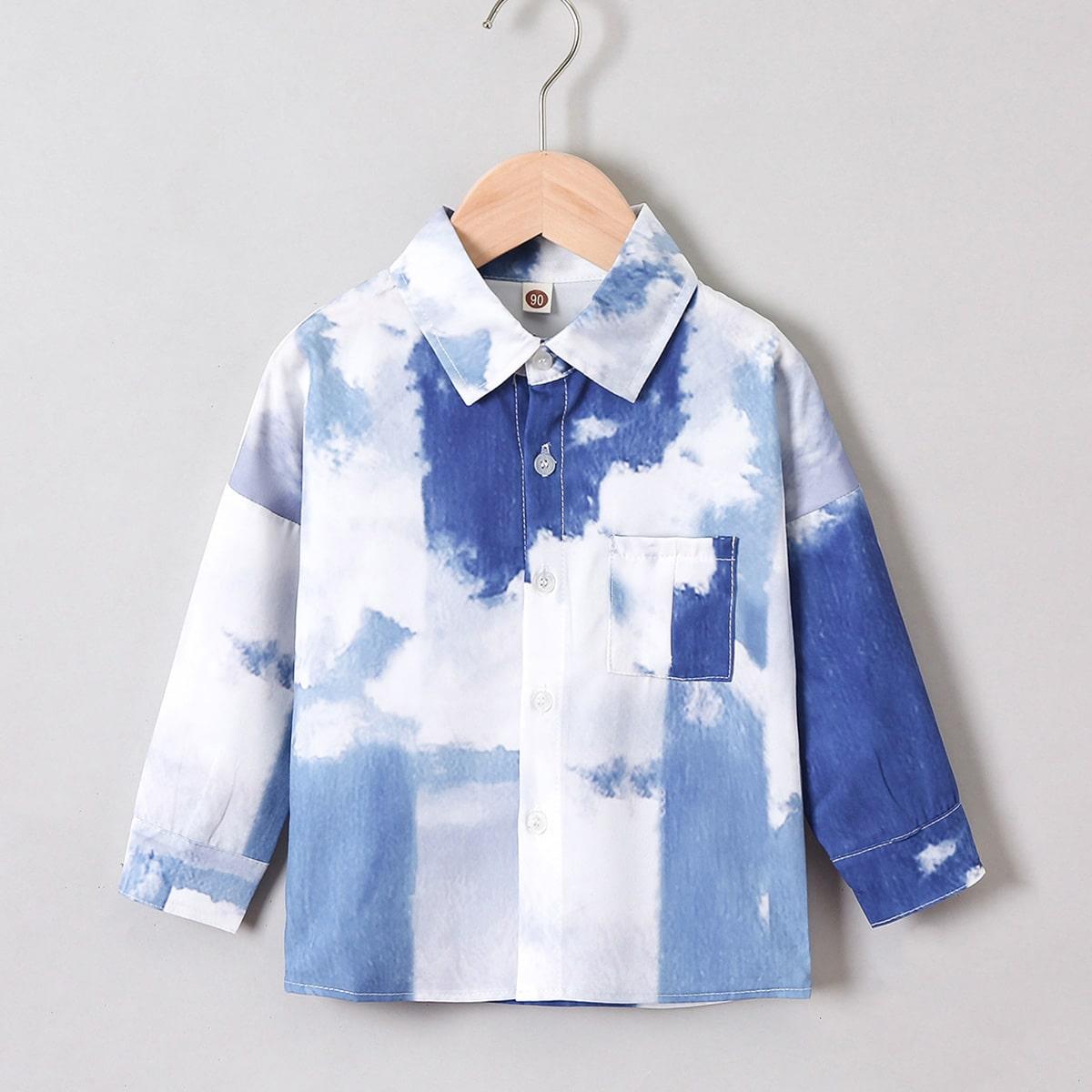 Рубашка с принтом тай дай для мальчиков