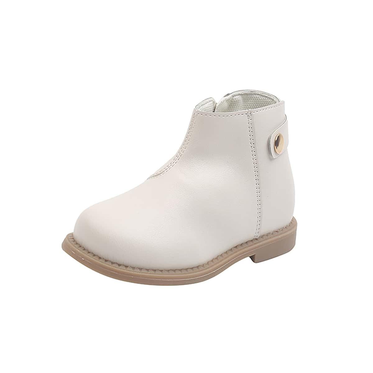 Классические ботинки с молнией для девочек SheIn sk2108109586544624
