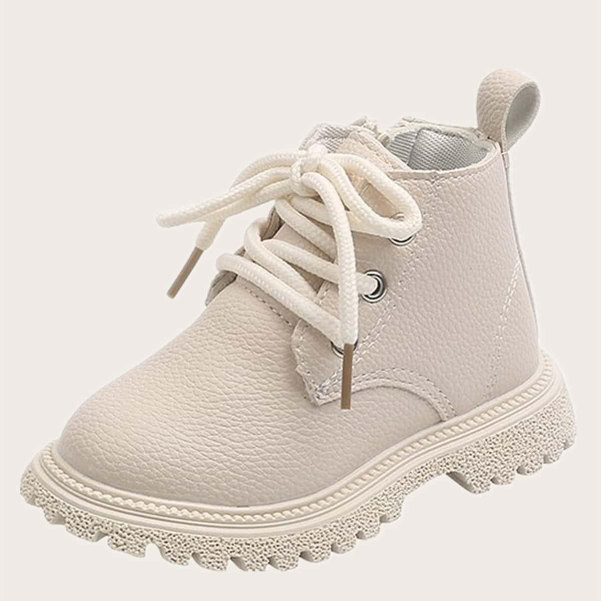 Минималистичные ботинки на молнии для девочек SheIn sk2108113529546346