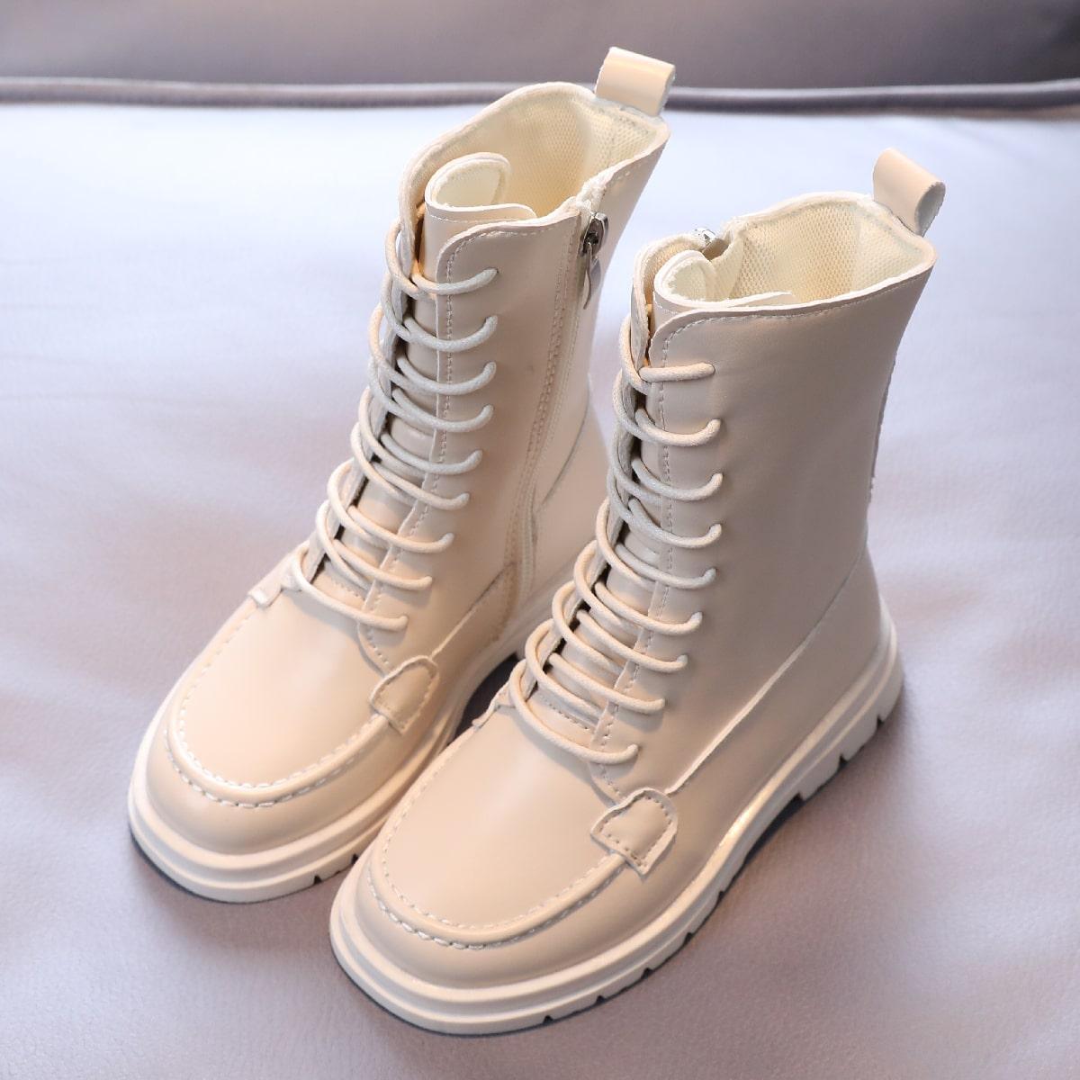 Минималистичные ботинки на молнии для мальчиков SheIn sk2108113674350137