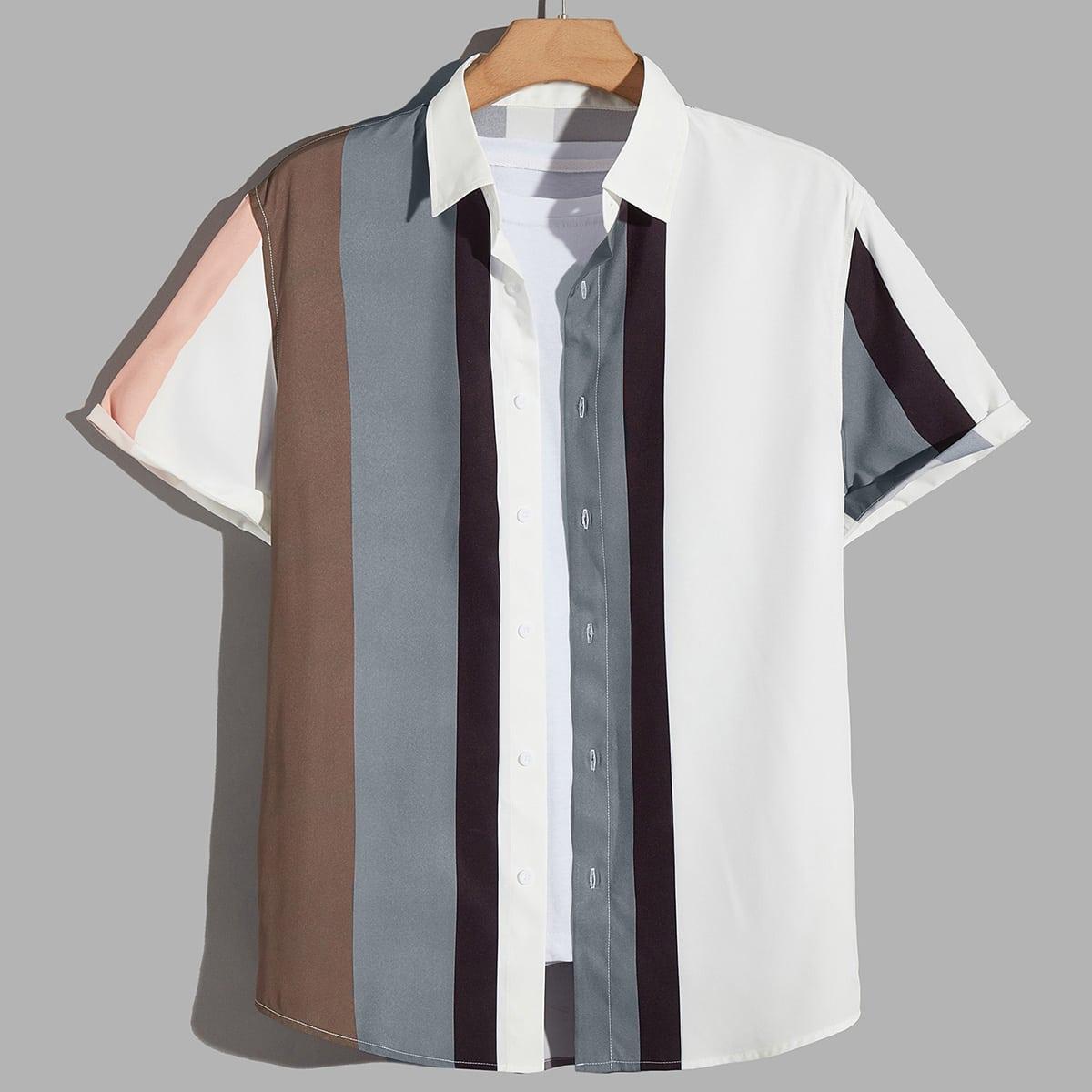 Мужской Рубашка в полоску