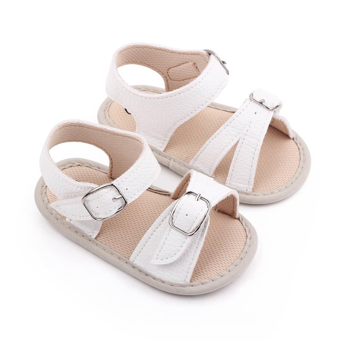Детские минималистичные сандалии с пряжкой SheIn sk2108105678518136