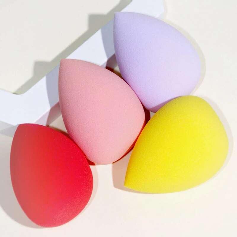 4pcs Random Color Makeup Sponge, Multicolor