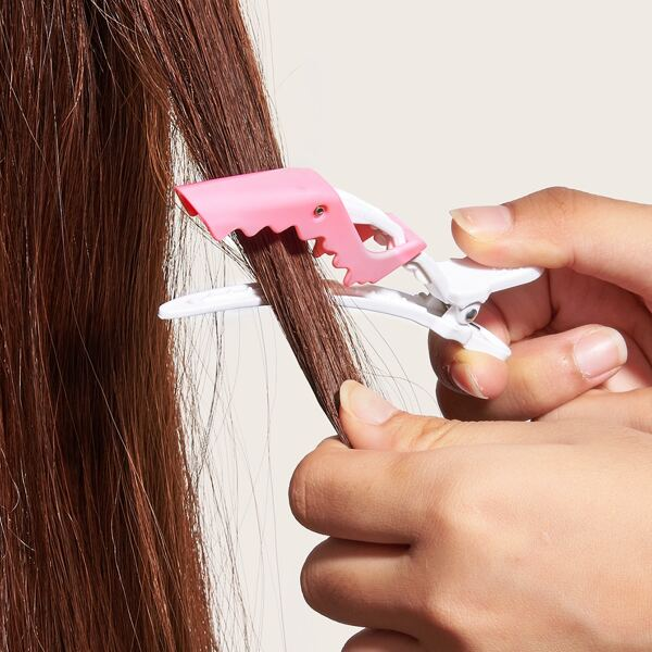 1pc Shark Design Salon Hair Clip, Multicolor