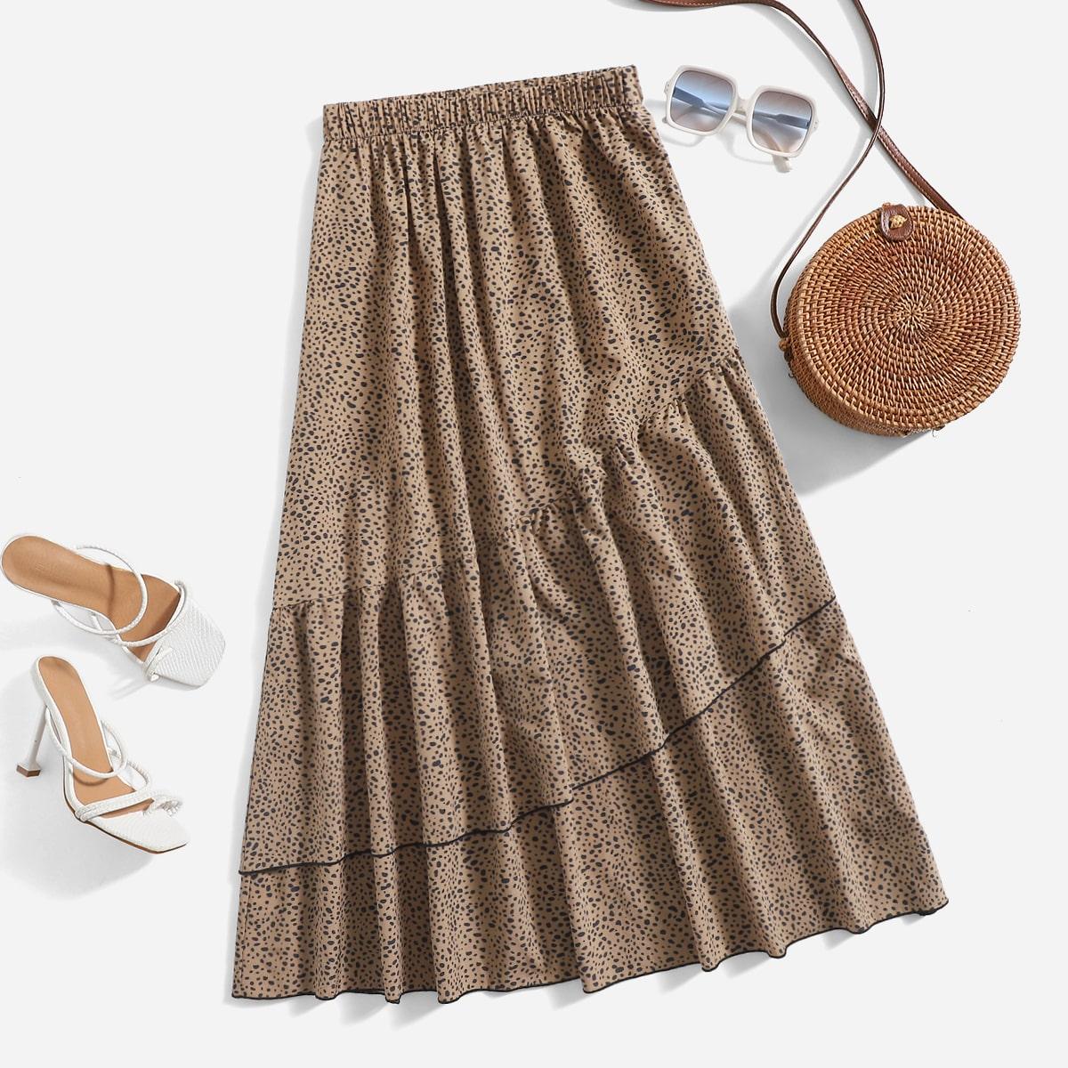 Dalmatian Print A-Line Skirt
