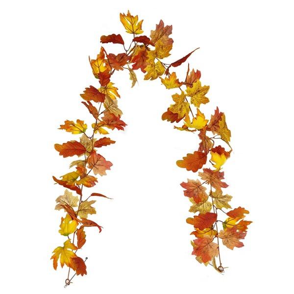 1pc Artificial Maple Leaf Vine, Multicolor