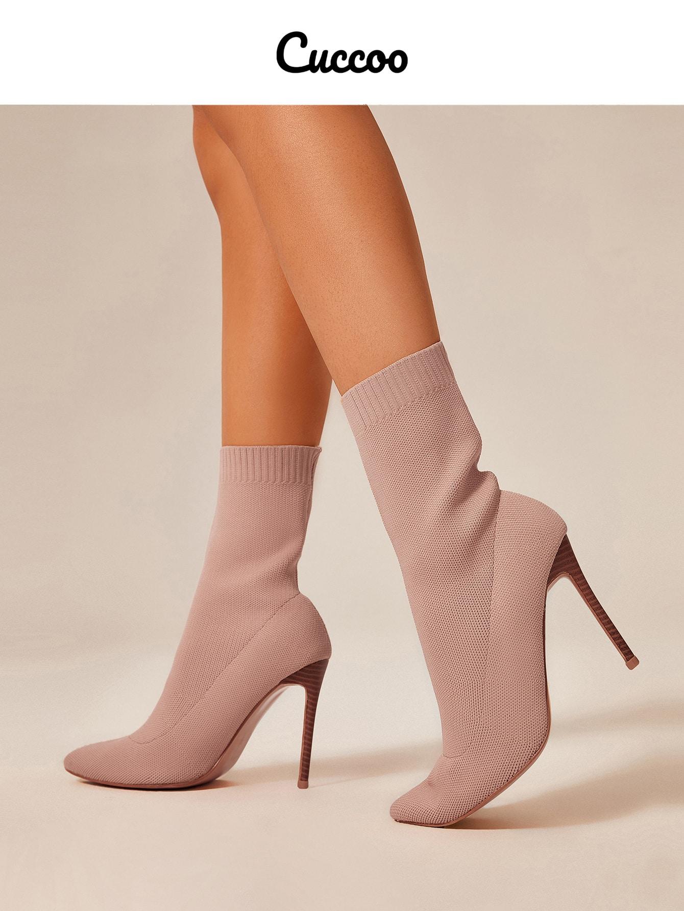 Minimalist Point Toe Sock Boots