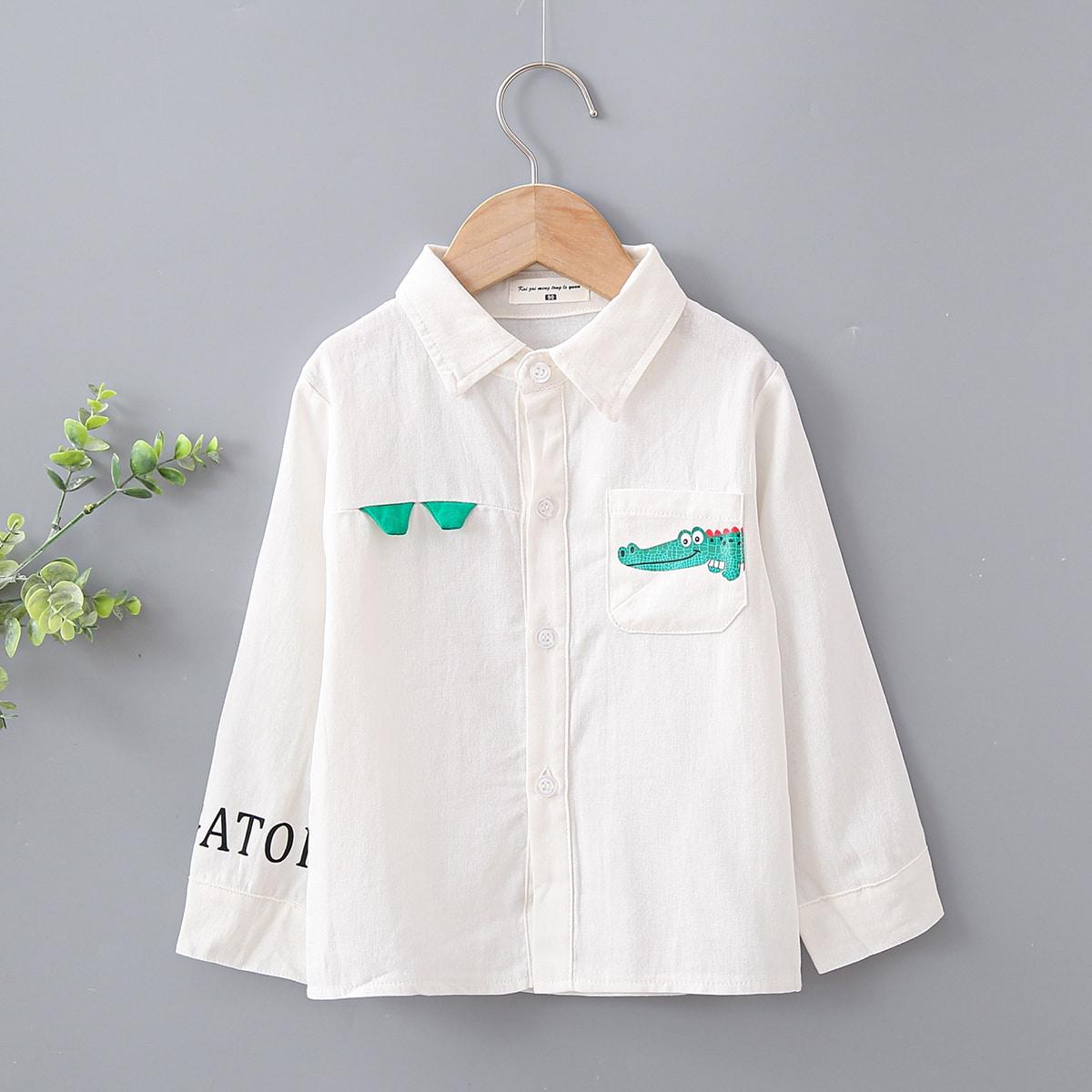 Рубашка с оригинальным принтом для мальчиков