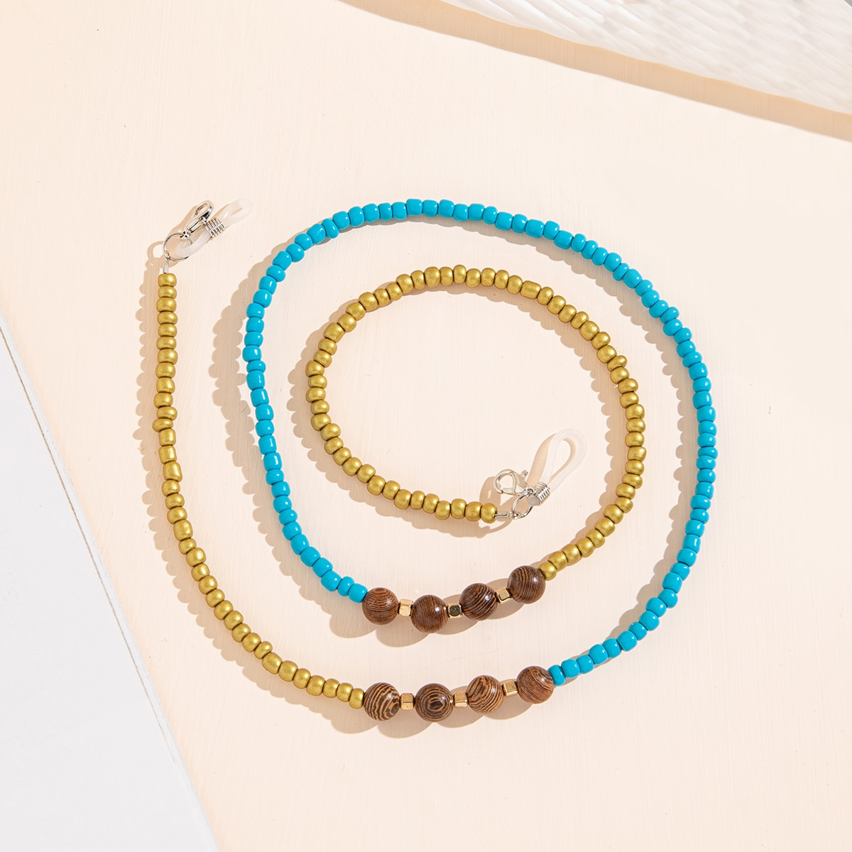 Color Block Beaded Glasses Chain