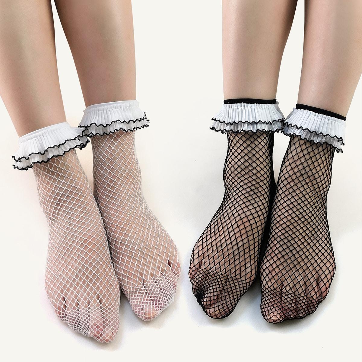 2 пары Сетчатые носки
