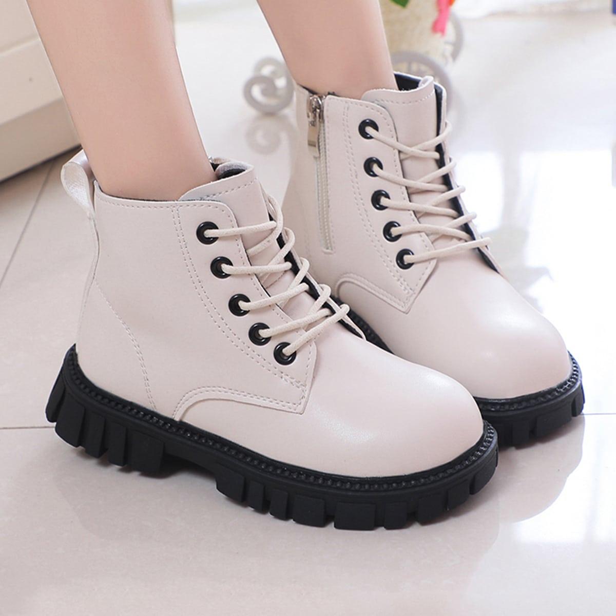 для девочек Ботинки минималистичный на шнурках SheIn sk2108137976639991