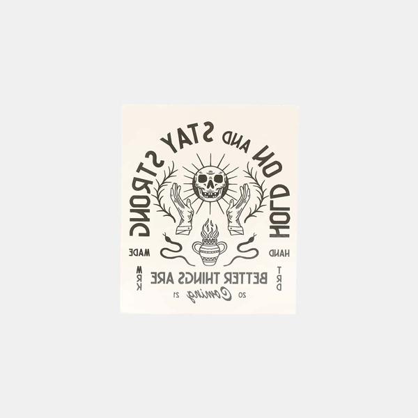 Streetspo 1sheet Skull & Letter Graphic Tattoo Sticker, Multicolor