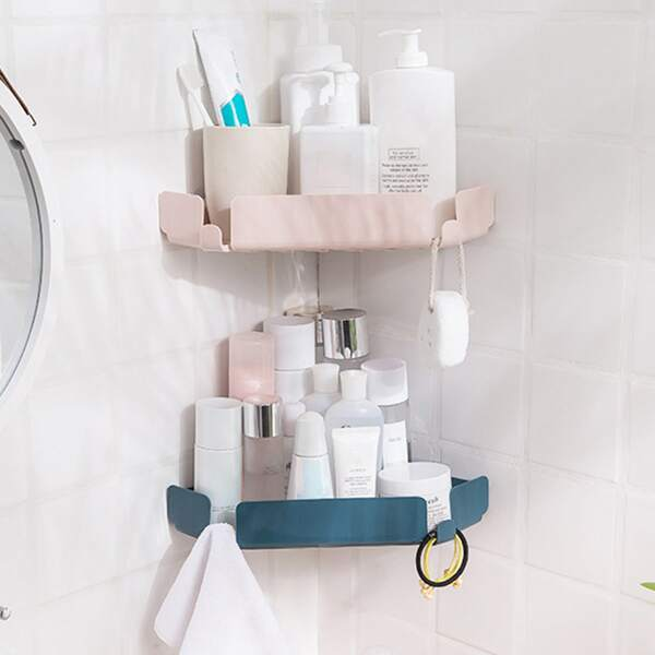 1pc Triangle Random Color Bathroom Storage Rack, Multicolor