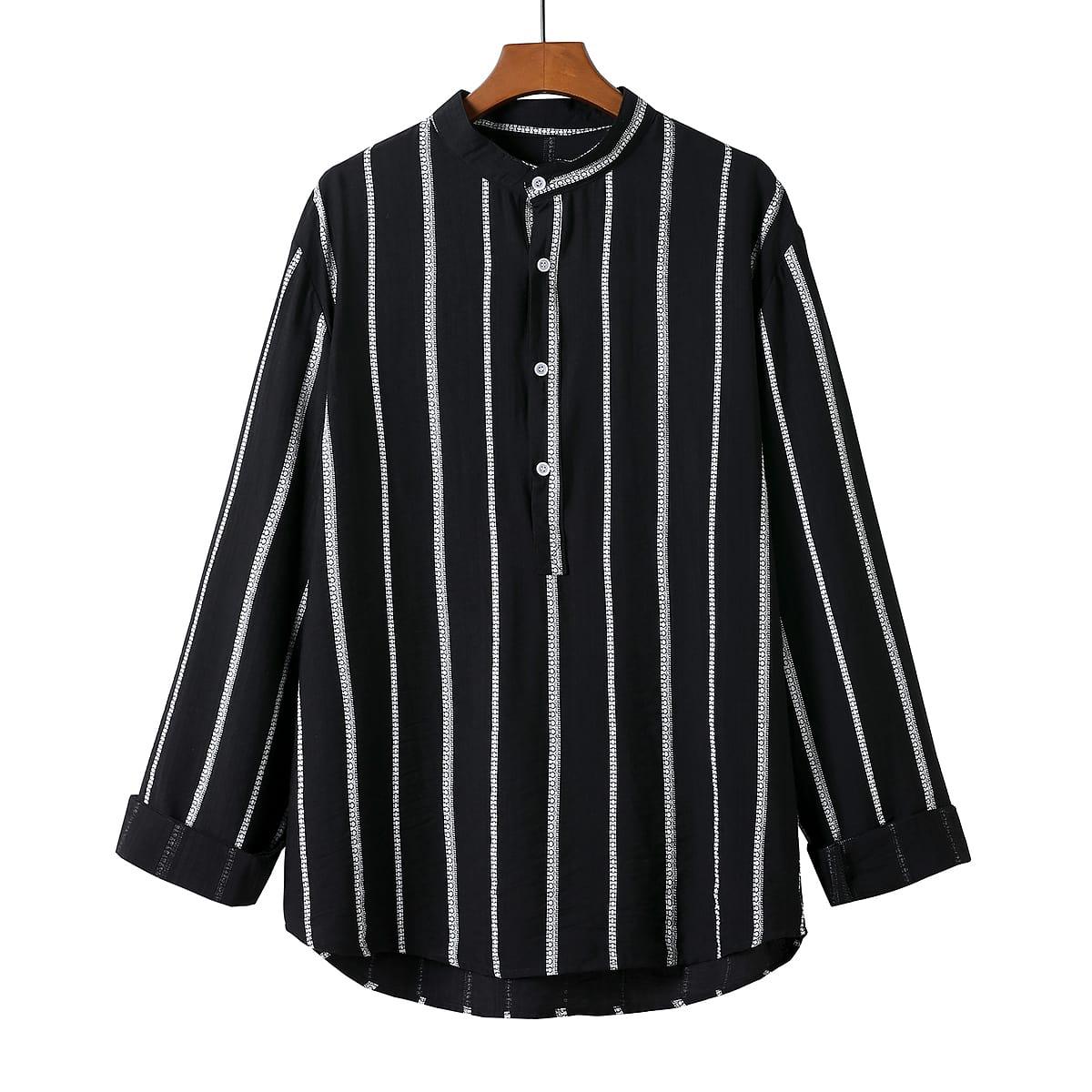Мужской Рубашка в полоску на пуговицах
