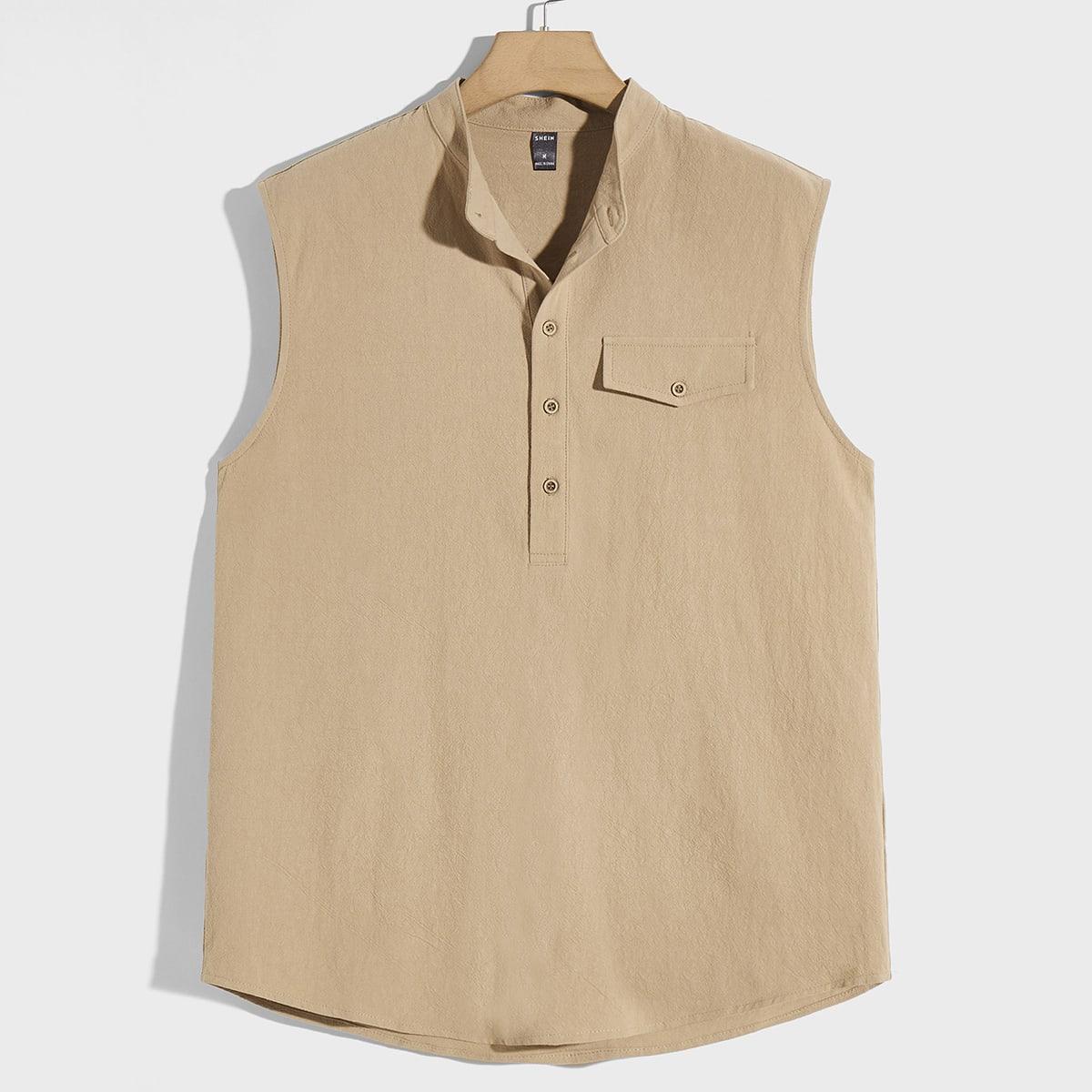 Мужской Рубашка без рукавов