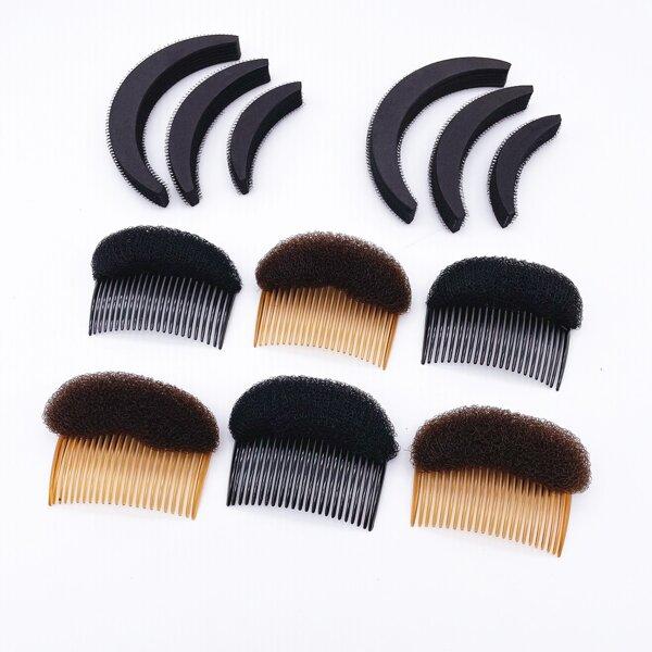 12pcs Hair Volume Increase Puff Sponge Pad, Multicolor