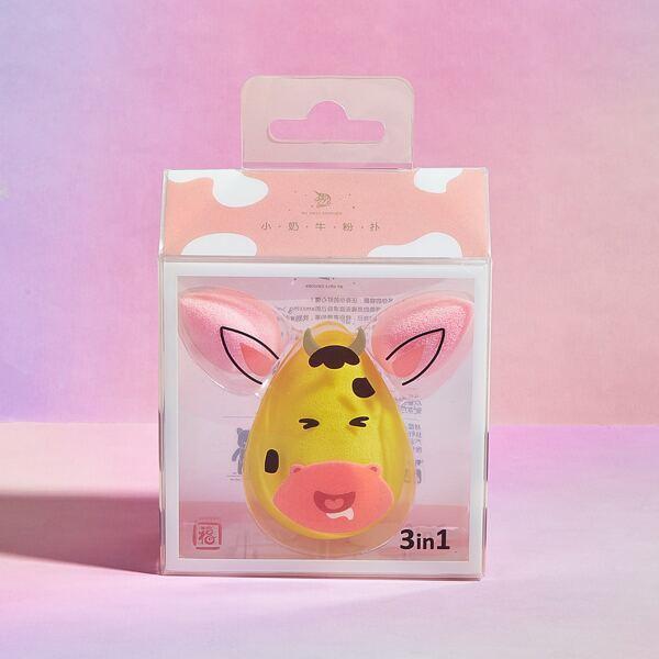 3pcs Makeup Sponge Set, Yellow