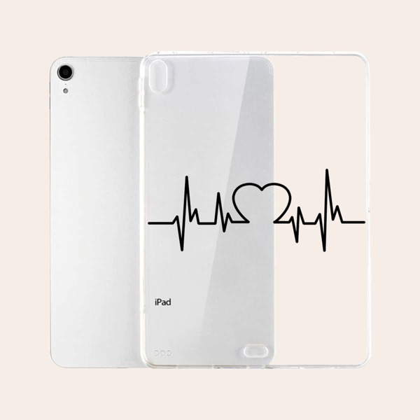 Heart Pattern Ipad Case, Clear
