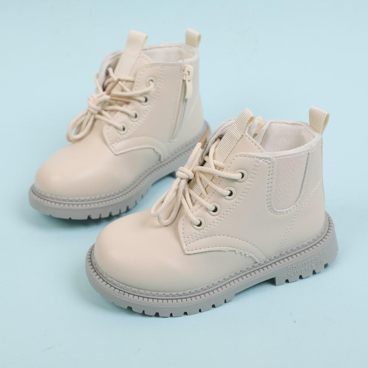для девочек Ботинки комбат на молнии SheIn sk2107290111933578