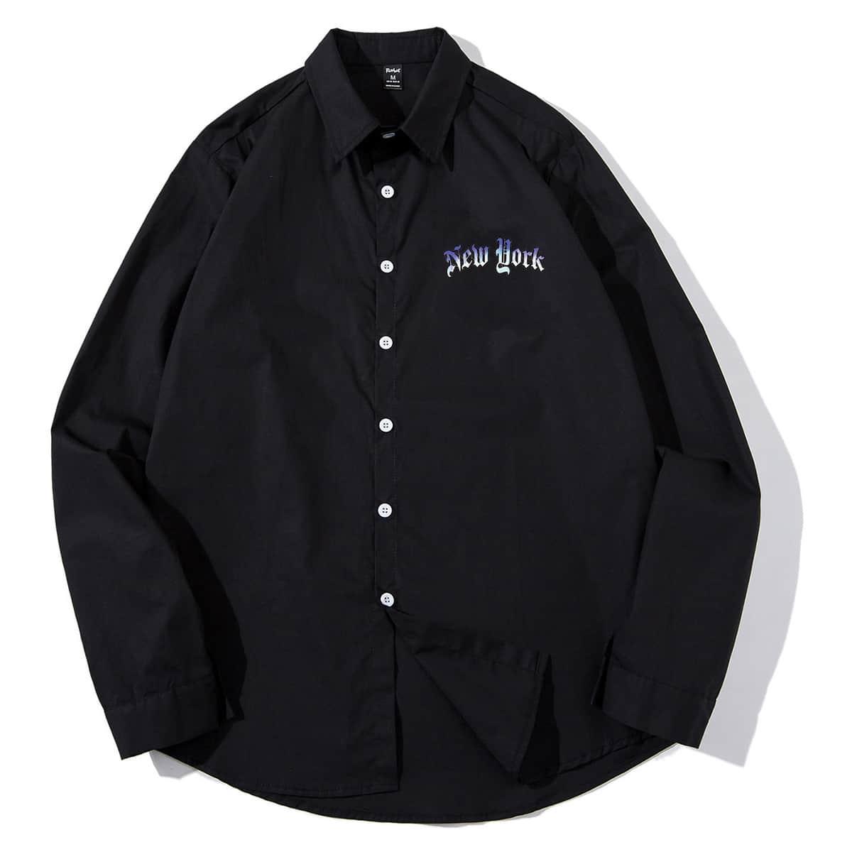 для мужчины Блуза буква на пуговицах