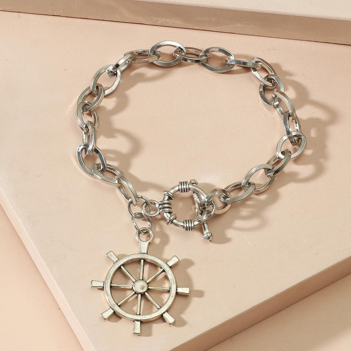Rudder Charm Chain Bracelet, SHEIN  - buy with discount