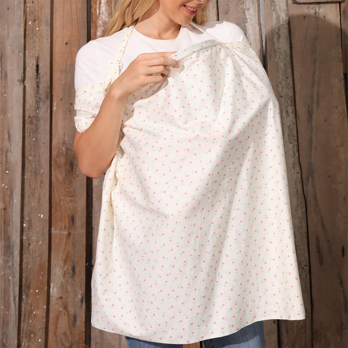 Ditsy Flower Print Nursing Cover, SHEIN  - buy with discount