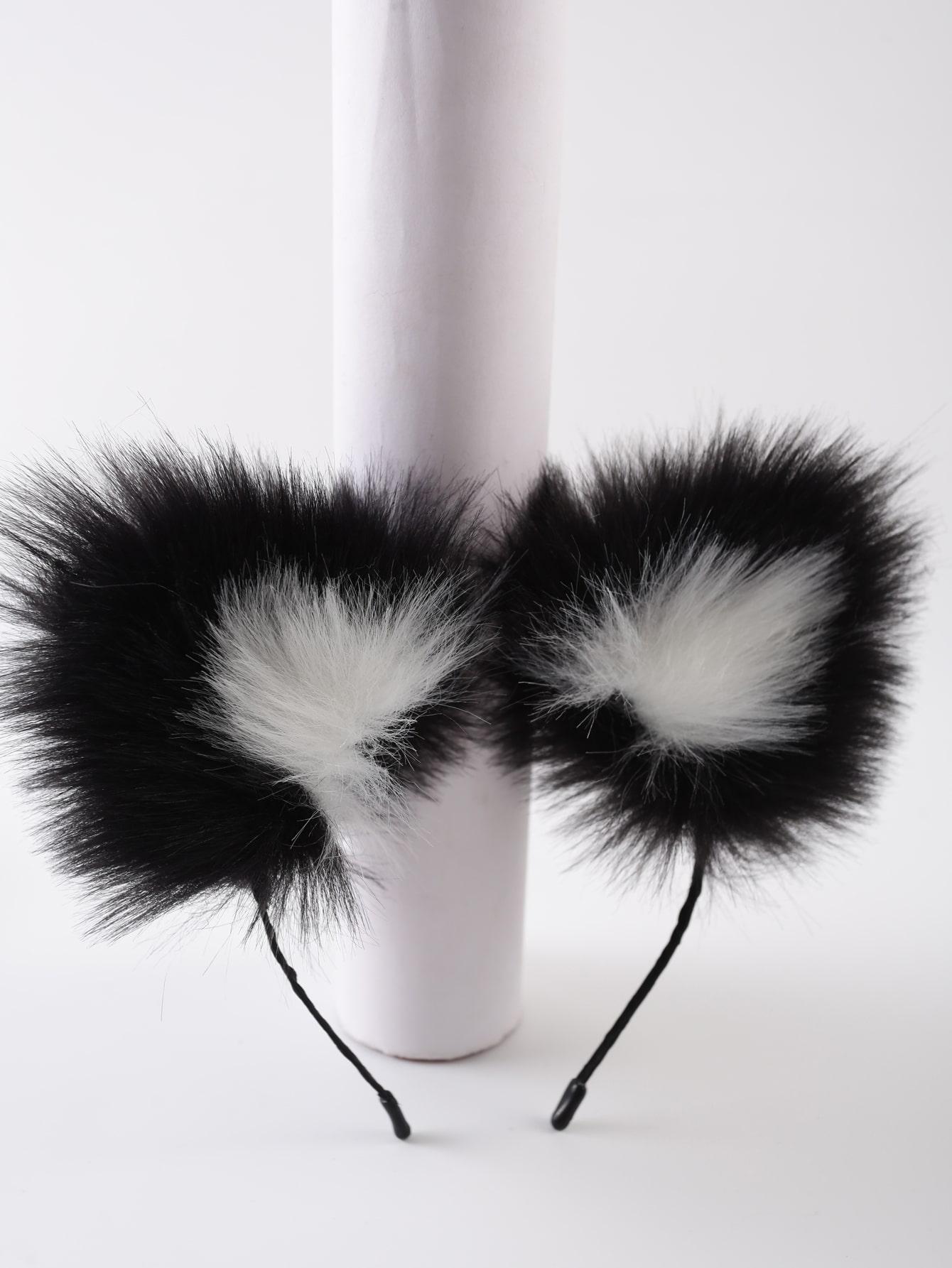 Fluffy Ear Decor Headband