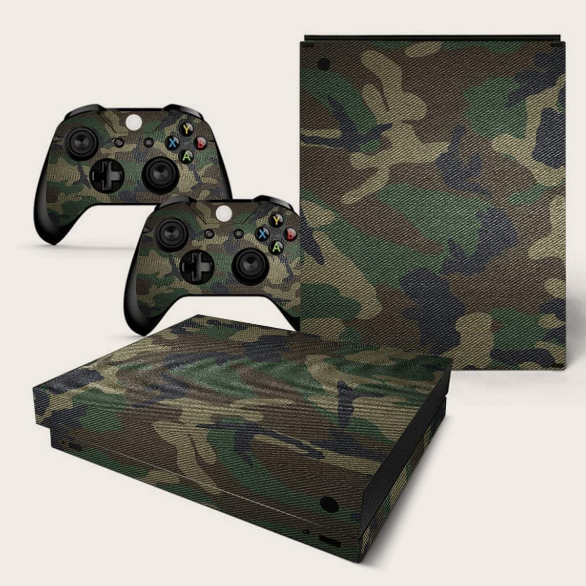 Наклейка с камуфляжным рисунком для игровой консоли для Xbox One X