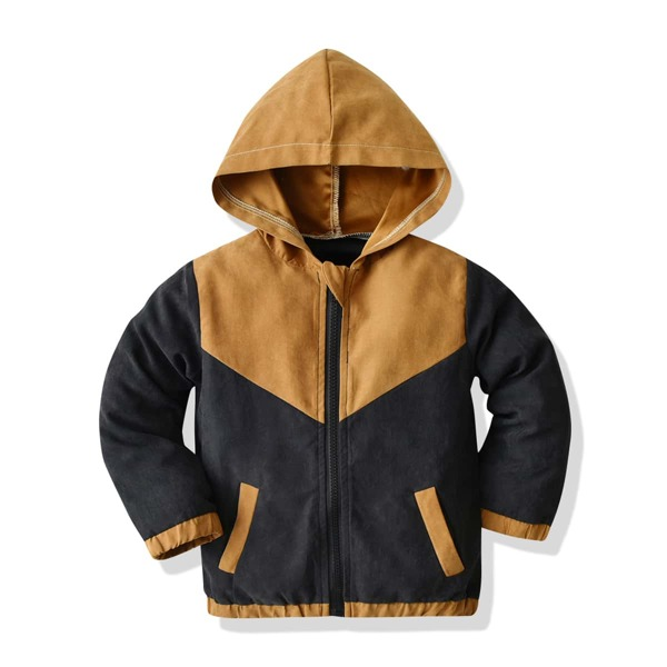 Toddler Boys Two Tone Zip Up Hooded Jacket, Multicolor