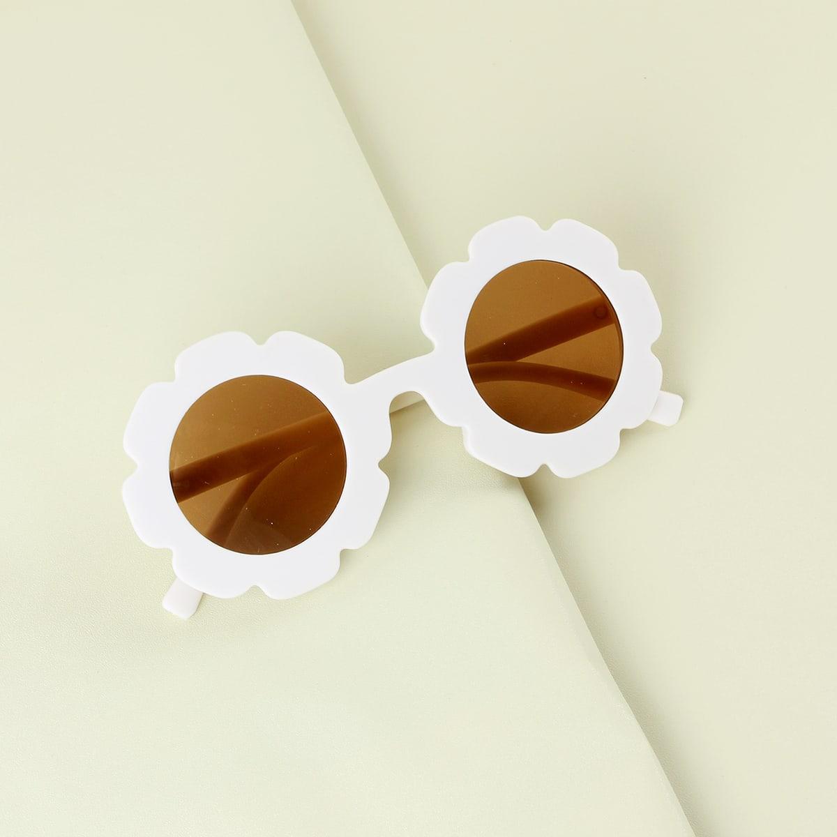 Солнцезащитные очки в форме цветка для девочек