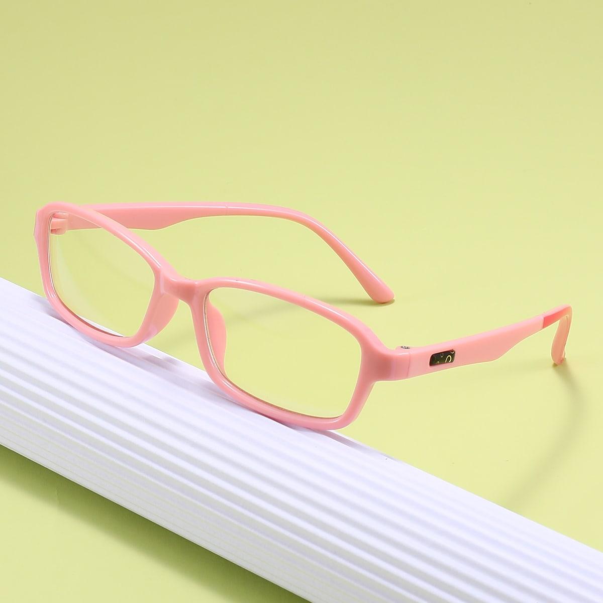 Детские очки с защитой от синего света в геометрической оправе