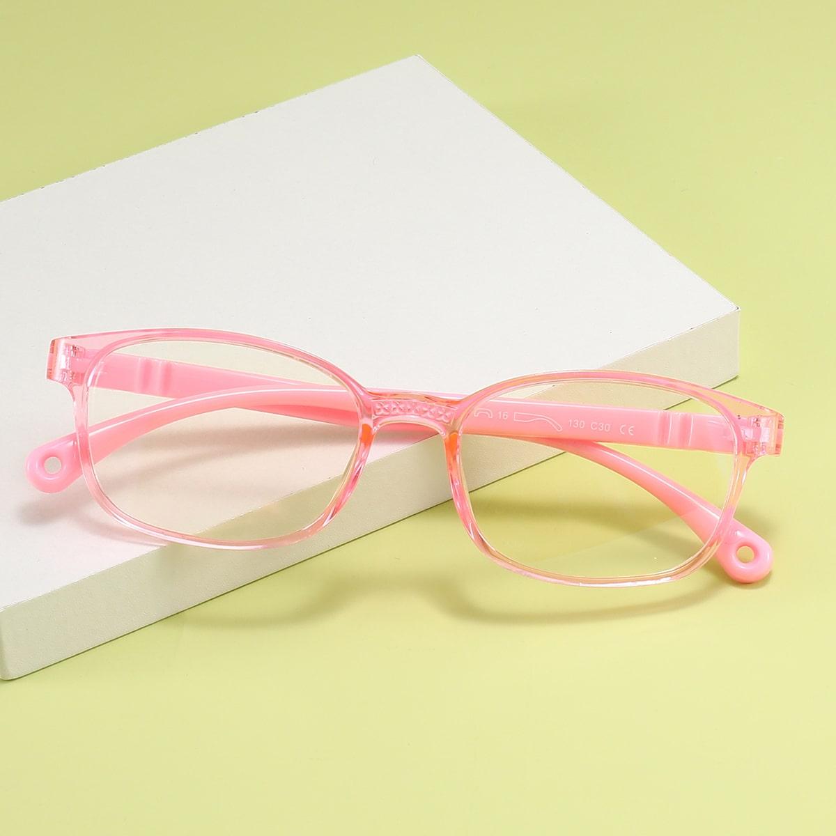 Очки с защитой от синего света в геометрической оправе для девочек
