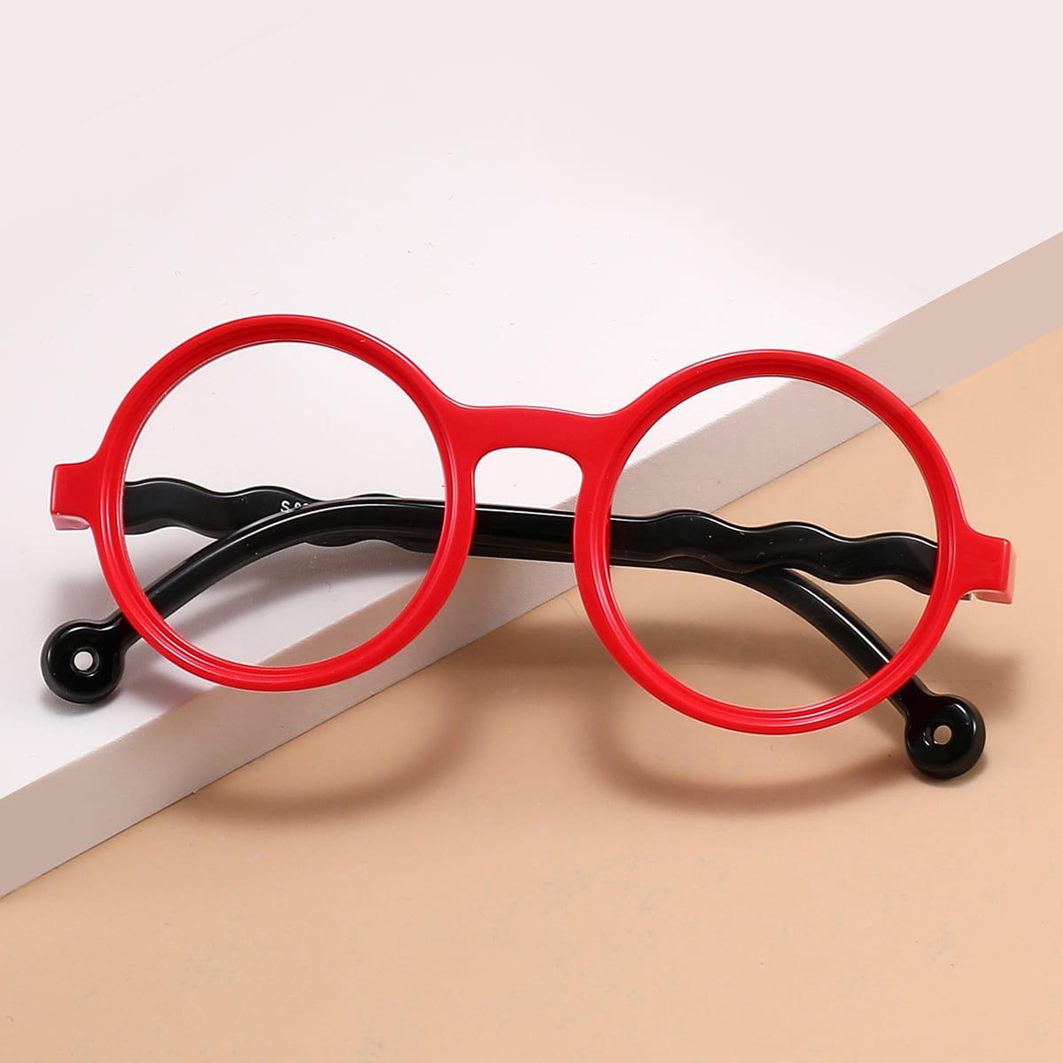 Детские очки с защитой от синего света в круглой оправе