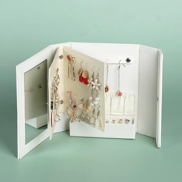 Коробка для хранения ювелирных изделий в форме книги 1шт, Белый