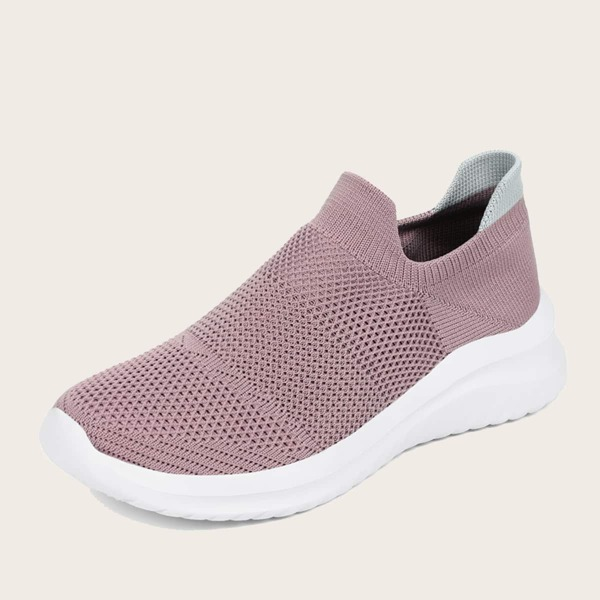 Minimalist Breathable Slip On Shoes, Dusty pink
