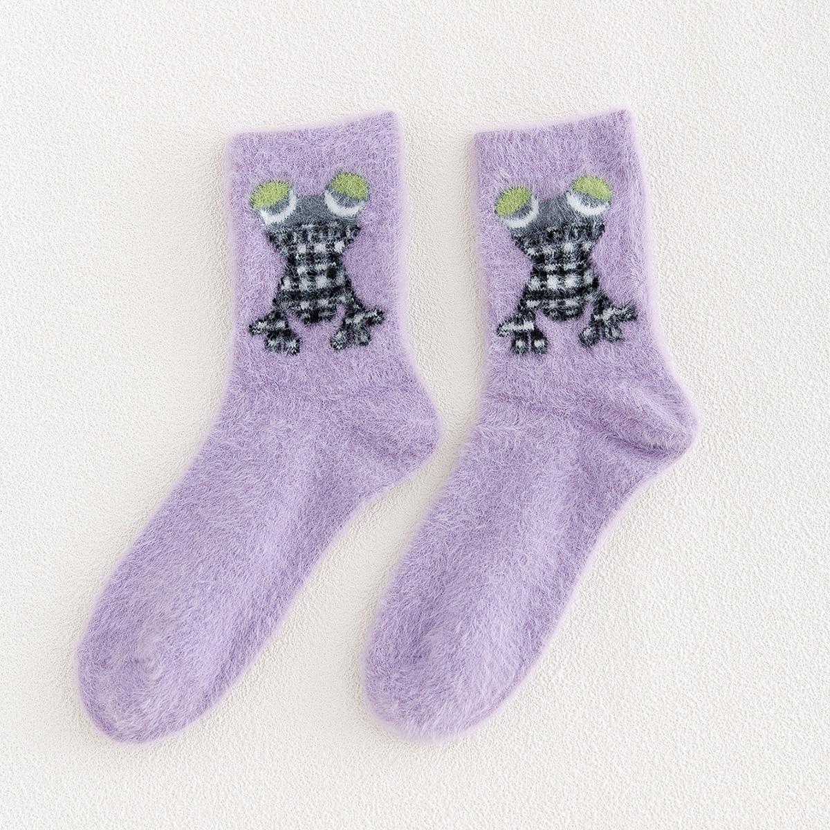 Носки до середины голени с лягушкой
